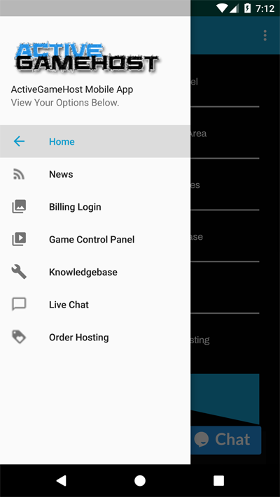ActiveGameHost GooglePlay App